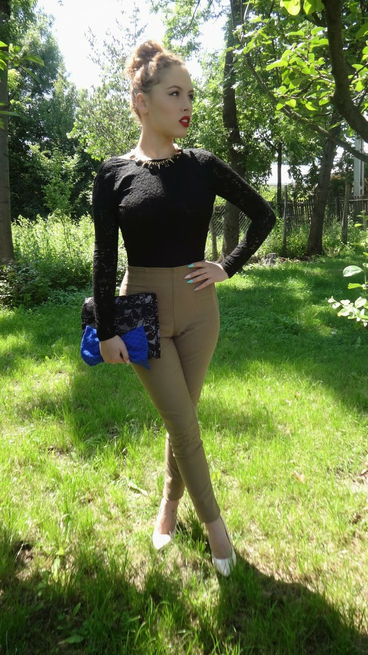 Creatza1491Makeup: OOTD High-wasted Pants&Backless Top