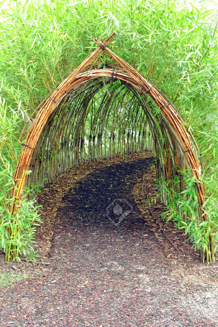 could do this on one side of living fence opening to secret garden love the idea of using bamboo - Garden Design Using Bamboo