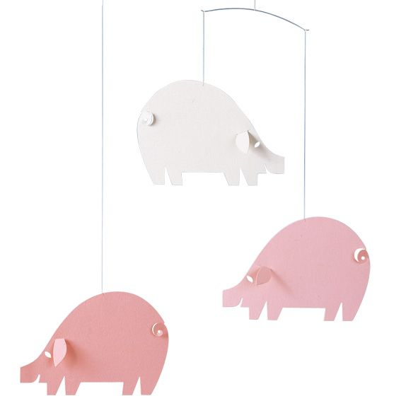 Piggy mobile (pastel) by Flensted Mobiles