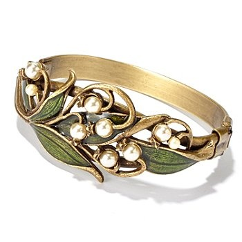 #shopnbcfavorites  115-861 - Sweet Romance™ 7'' Nouveau Inspired Lilly-of-the-Valley Bracelet