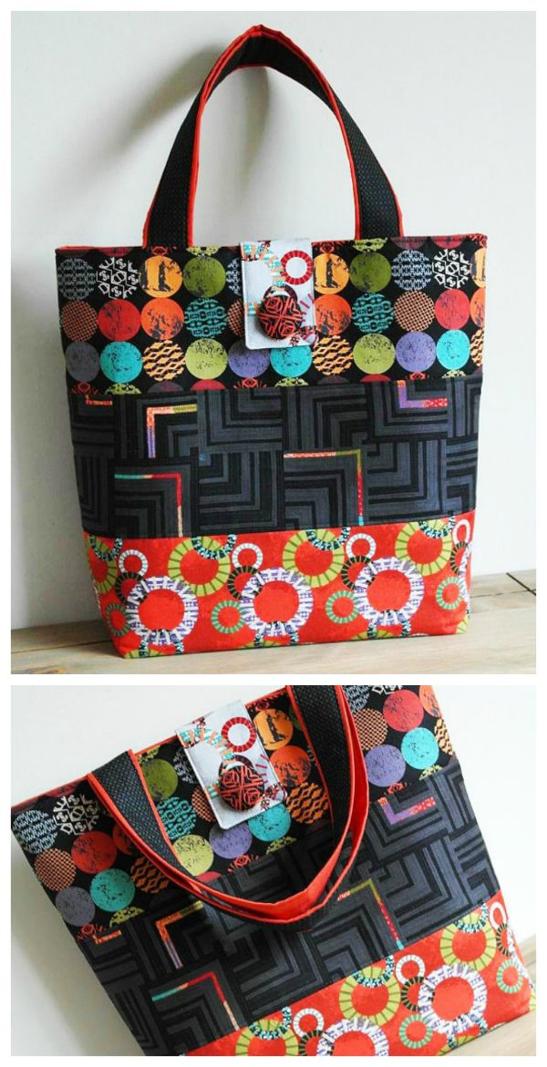 Tote bag pdf downloadable sewing pattern. | Bags to sew | Pinterest ...