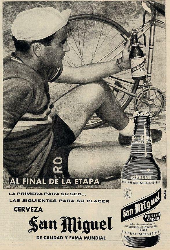 En 1962 no había inconveniente en mezclar deporte y alcohol.