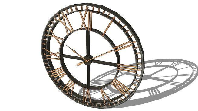 horloge, Maisons du monde. Réf: 129.965 Prix:139€ - 3D Warehouse