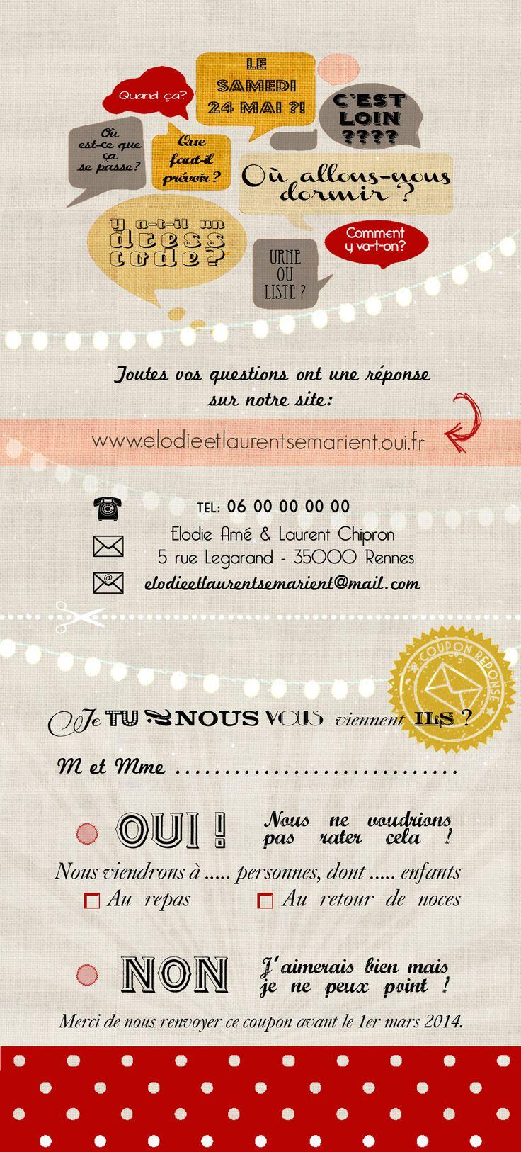 Faire part mariage Bistrot - Le Bistrot des Mariés | Les Faire-parts d'Eugénie