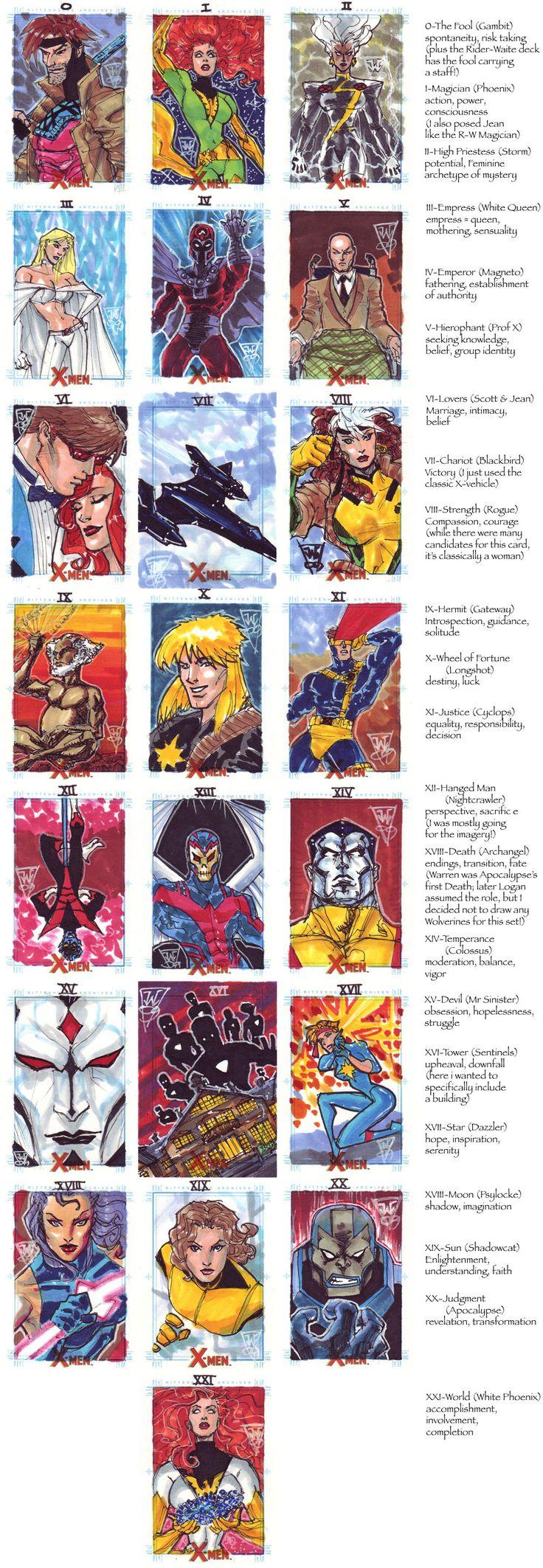 X-Men Tarot Major Arcana