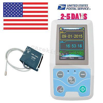CE 24h Ambulatory Blood Pressure Monitor oscillometer ABPM Holter NIBP MAPA ECG