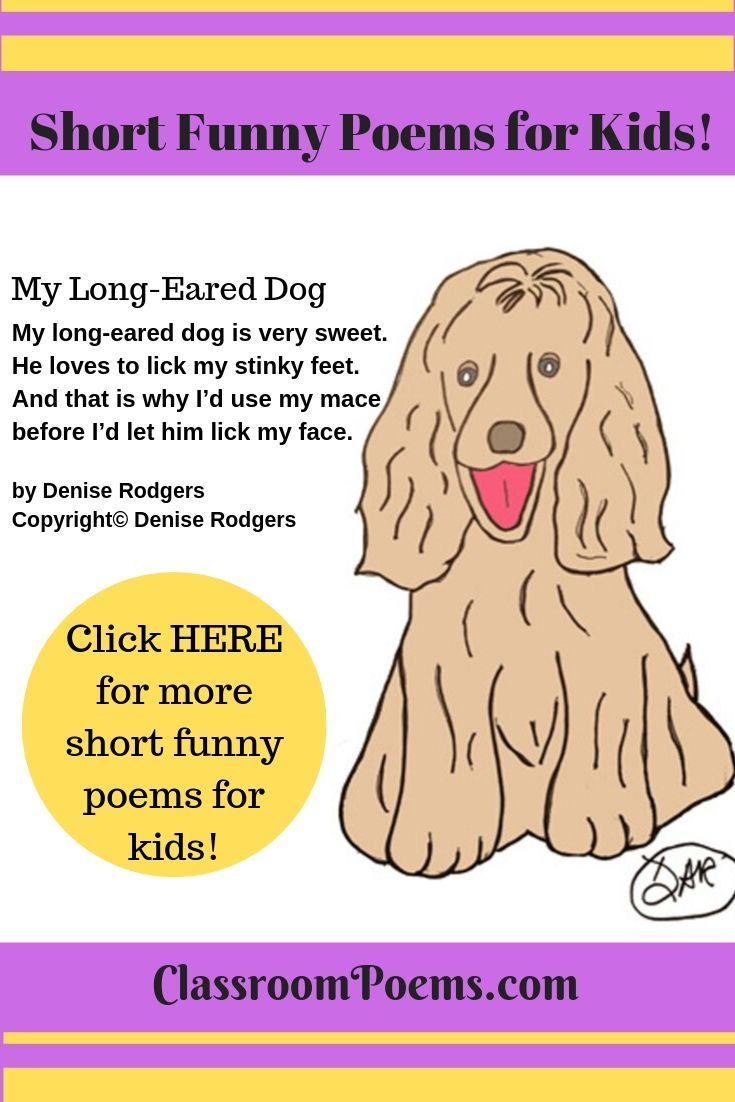Short Funny Poems Funny Poems For Kids Funny Poems Short Funny
