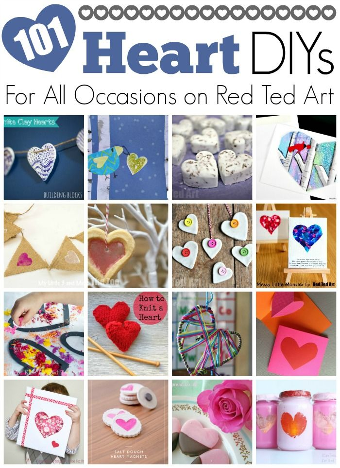 Easy Heart Crafts - these heart crafts are great for SO MANY occassions - whether you are looking for easy Valentine's Day Crafts for Kids, some lovely Christmas Heart DIYs or great Mother's Day Gifts.. these heart DIYs should be perfect for all occasions!