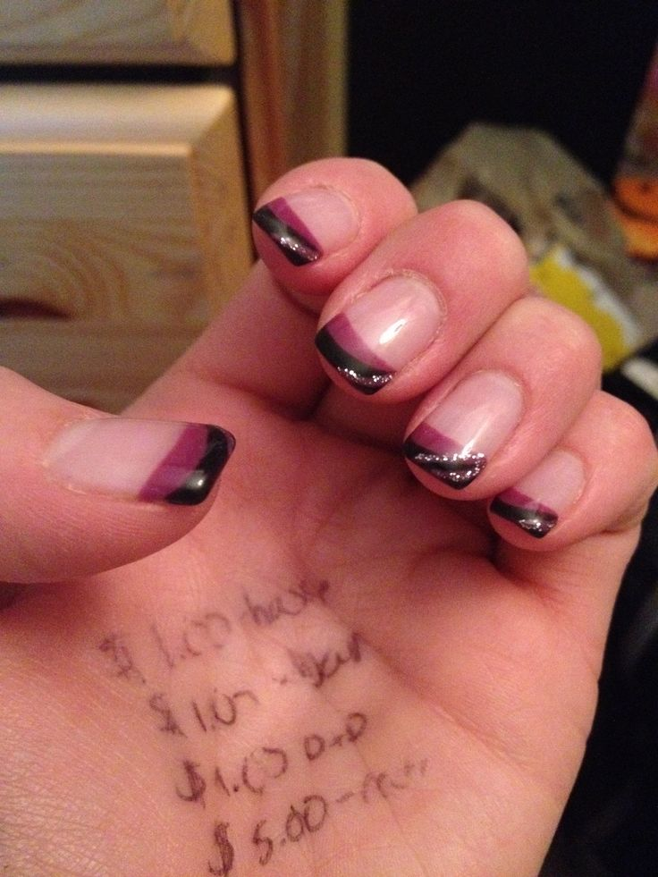 Purple and black matte with a hint of silver sparkle By Laurie Favell