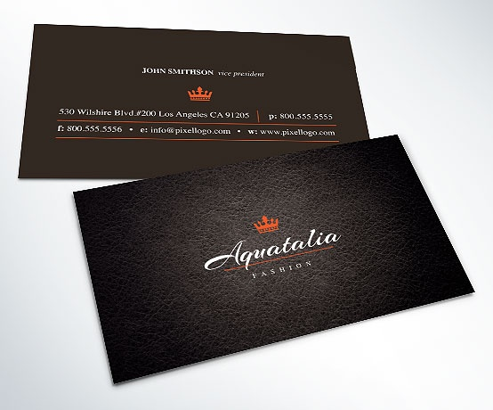 A Leather textured Black Business Card Design. #businesscard #design $14.99