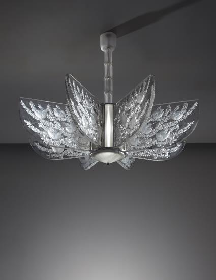 PHILLIPS  NY050115 René Lalique u201cAlger Iu201d chandelier Marcilhac no. & 128 best René Lalique Light images on Pinterest | Chandeliers Art ... azcodes.com