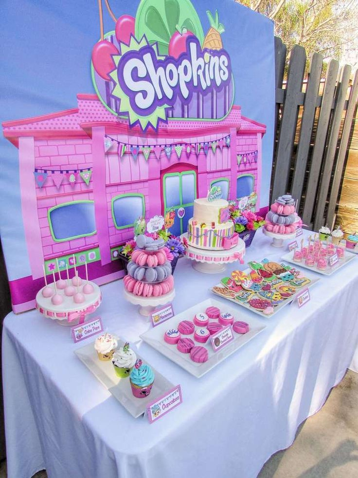 You have to see this Shopkins birthday party! See more party planning ideas at CatchMyParty.com!