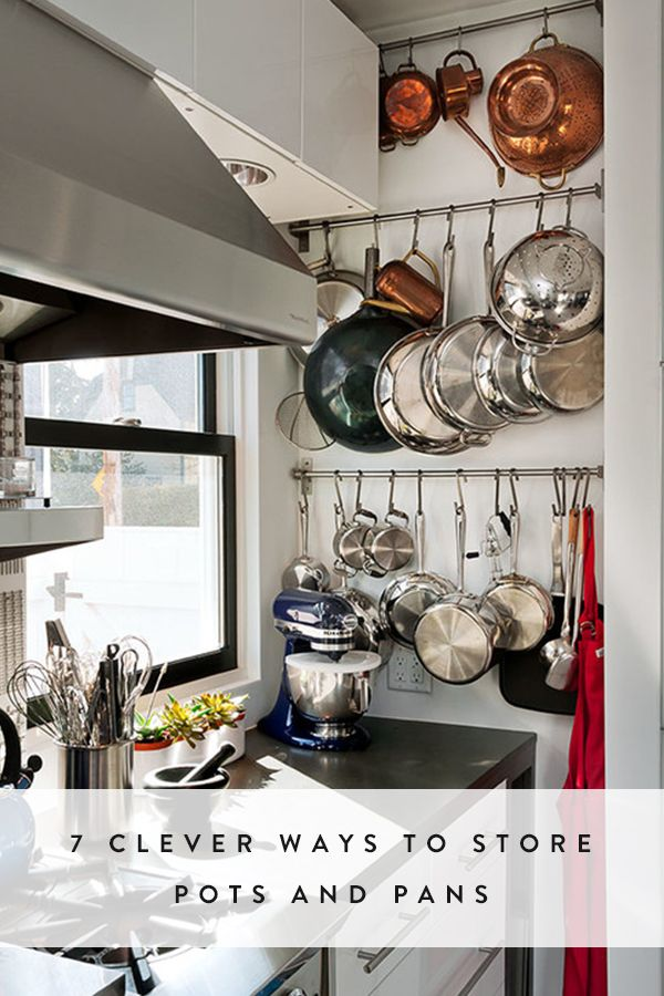 Pan Storage Creative And Pots On Pinterest