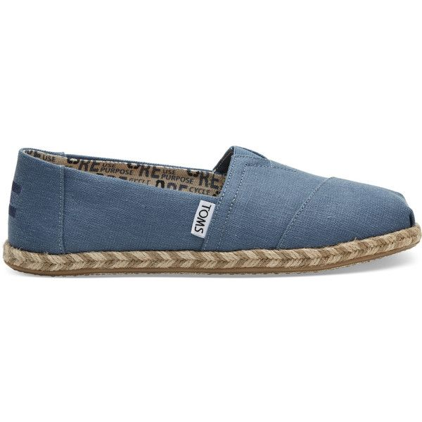 TOMS Blue Earth Women's Espadrilles Shoes ($69) ❤ liked on Polyvore featuring shoes, sandals, blue, toms espadrilles, blue color shoes, blue espadrilles, hemp shoes and toms sandals