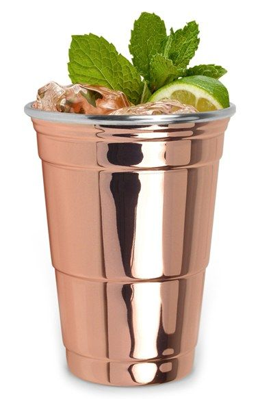 Perfect for everything from Moscow Mules to IPAs, this essential cup is cast in shining copper plate for a stylish upgrade to a party…