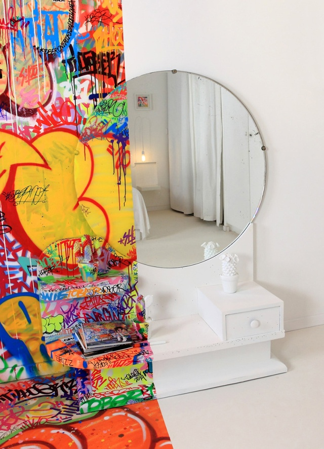 INTERIOR DESIGN / Graffitied 'PANIC ROOM' at Hotel Au Vieux Panier by Tilt