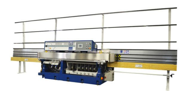 The Bovone ELB 10/45 is a 10 wheel machine for producing flat and arris profile with a variable mitring group upto 45 degrees. There are 6 mitring wheels attached to the swivelling beam. The main movements of the machine are controlled by PLC from Siemens. The main working parameters are set...