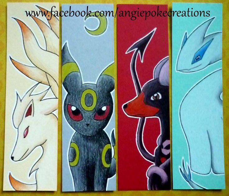 Marque-Pages Pokemon Dessins Feunard / Noctali / Démolosse / Lugia :)