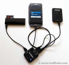EXCELLENTS CONSEILS !!! (ENFON trouvé une réponse claire !!!!) >>> Sauvegarder ses photos en voyage avec son smartphone : hub usb avec lecteur de cartes mémoire externe et mini disque dur