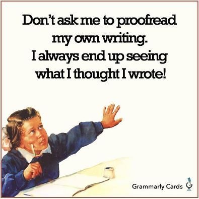 I have proofread