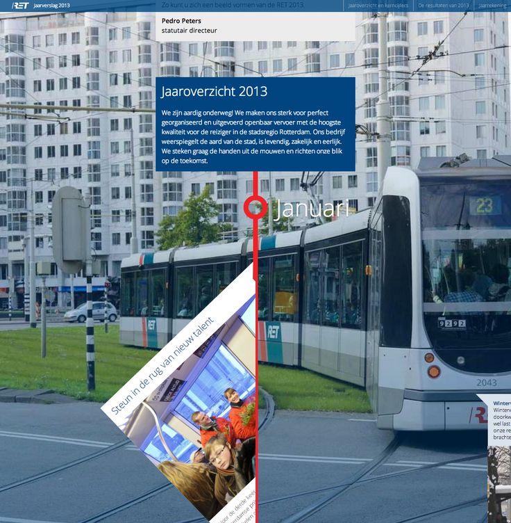 Jaaroverzicht, bedrijfsplan en jaarverslag over 2013 voor RET.  www.retjaarverslag.nl