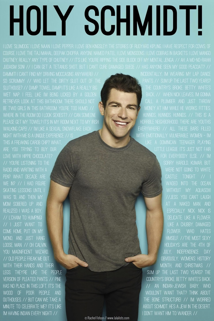 Max Greenfield/ Schmidt on New Girl