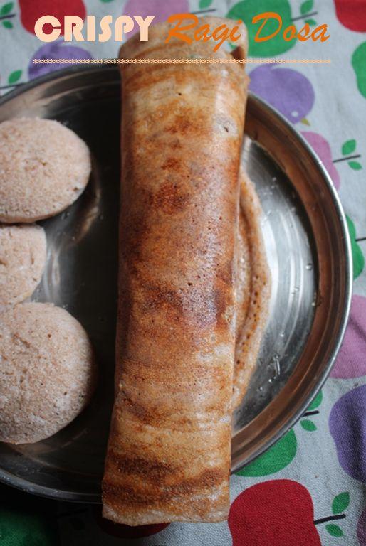 Crispy Ragi Dosa Recipe / Ragi Dosa Recipe