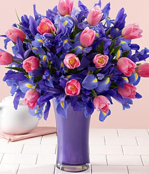 For Mothers Day!Delivery Sydney, Birthday Flower Gift, Flower Bouquets, Blue Iris Bouquets, Beautiful Flowers, Flower Delivery, Beautiful Bouquets, Pink Tulips, Purple Flower
