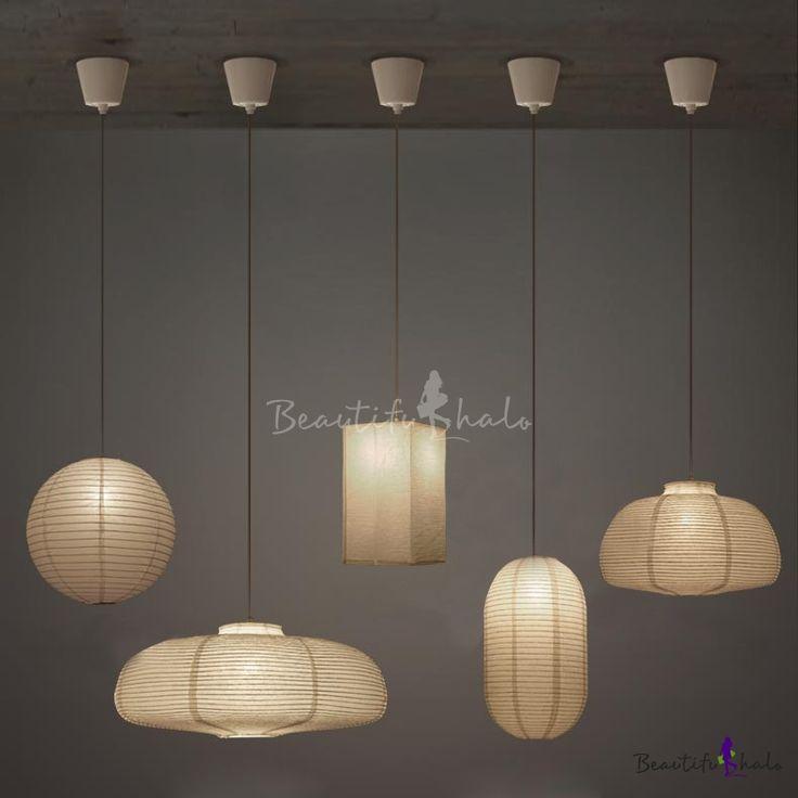 Exclusive Paper Mini Pendant Light In White By Designer In 2020 Lantern Lamp Mini Pendant