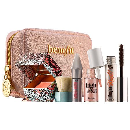 Shop Benefit Cosmetics' Sunday My Prince Will Come Easy Weekender Makeup Kit at Sephora. It features four mini bestsellers, a makeup bag, and a guide.