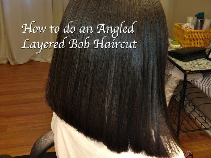 Layered Angled Bob Haircut, Locks of Love, (Hair Tutorial) Long to Short… #ang…