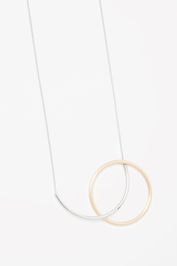 COS image 3 of Fine metallic string necklace in Silver