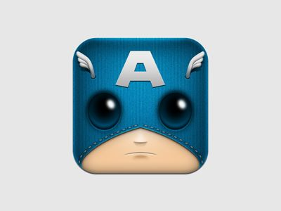 Captain America app icon - Can you say uber cute!