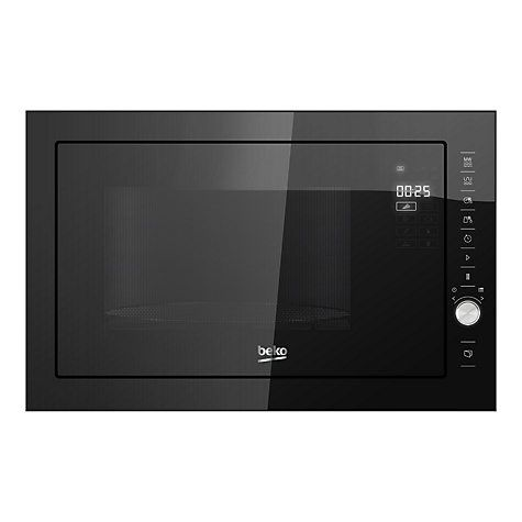 Buy Beko MCB25433BG Built-In Microwave Oven with Grill, Black Online at johnlewis.com