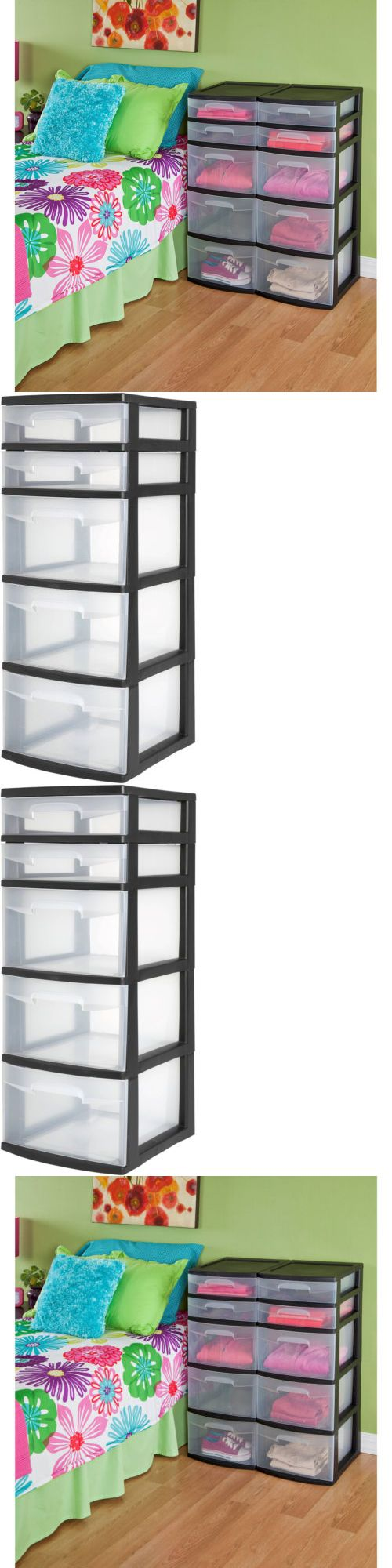 Storage Bins and Baskets 159898: Sterilite 5 Drawer Tower- Black (Available In Case Of 2 Or Single Unit) -> BUY IT NOW ONLY: $36.68 on eBay!