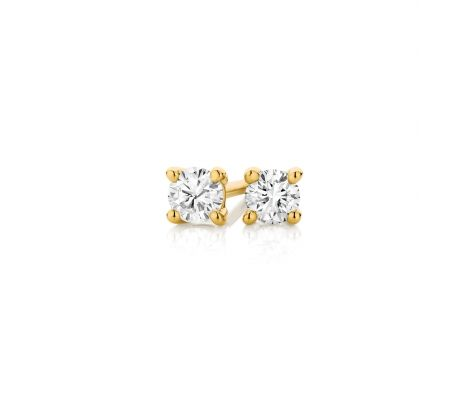 Nothing like a bit of ear sparkle.. 9ct yellow gold 4 claw 0.15ct TDW diamond stud earrings.