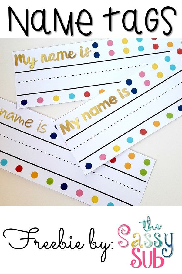 Trust image with printable name tags for preschool