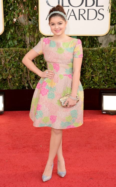 Ariel Winter, Golden Globes. I love when little girls look like little girls on the red carpet.