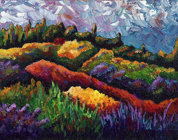 Tuscan Hills at Sunset Painting  - Shawna Elliott