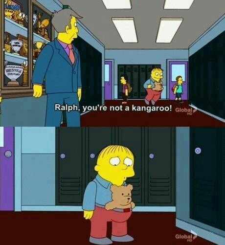 Haha, Ralph Wiggum From The Simpsons