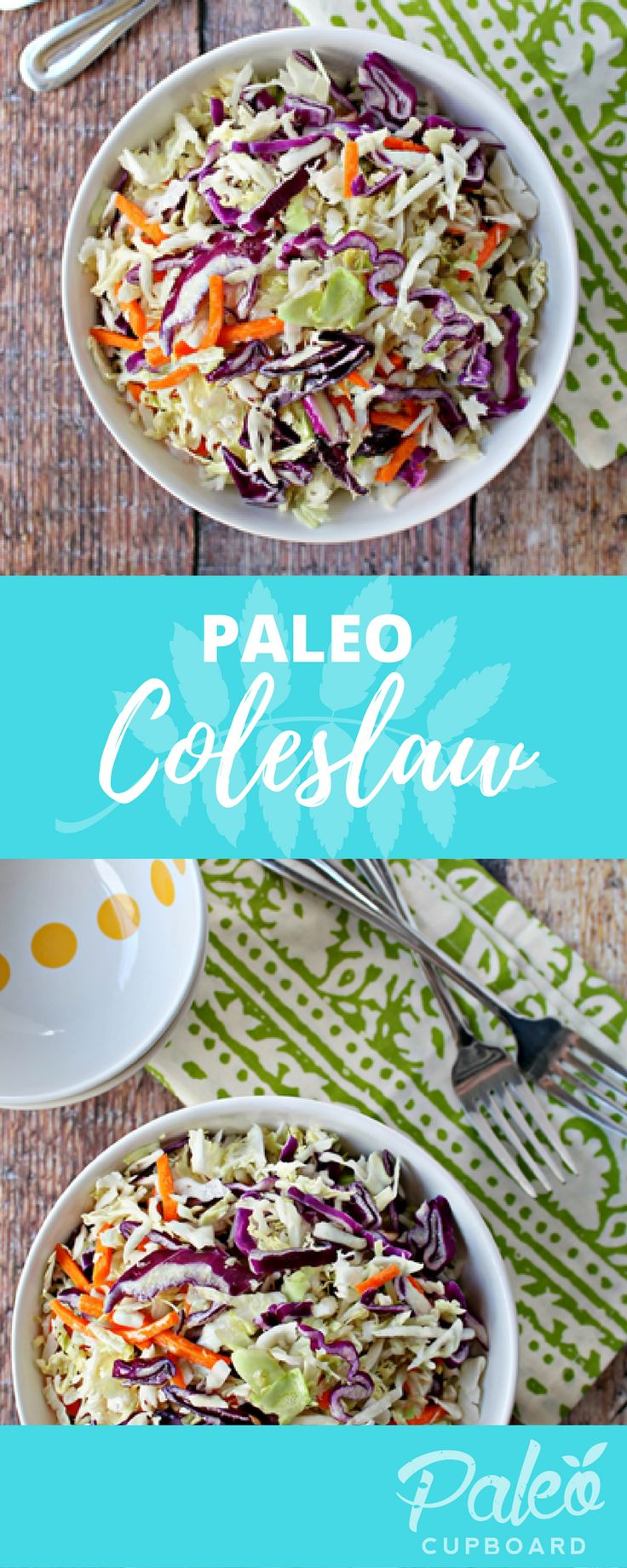 Easy Paleo Coleslaw recipe - a great side dish for any protein!