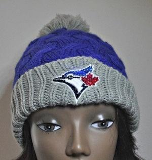 Toronto Blue Jays Bling Womens Knit Beanie Hat by BabyWantsBling, $54.99…