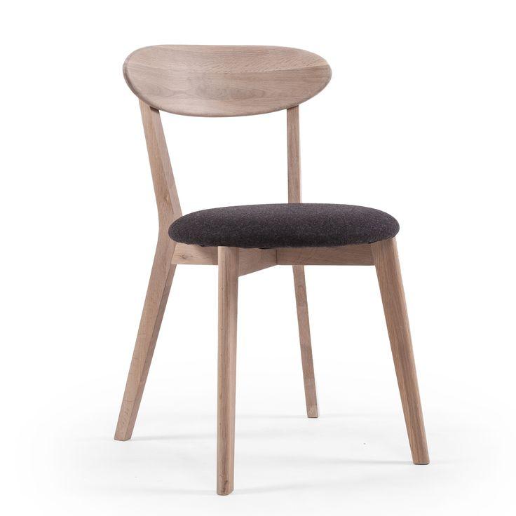 Wood Fold spisestol,hvitpigmentert eik i gruppen Møbler / Stoler / Stoler hos ROOM21.no (123592)
