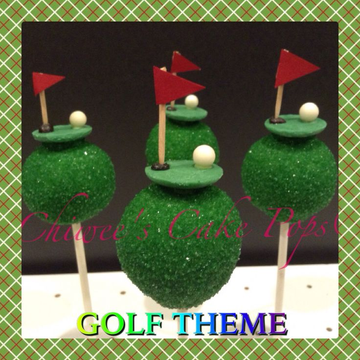 Father's Day cake pops....Golf theme