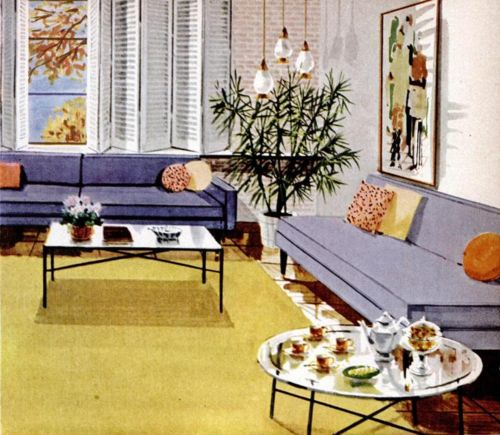 Elegant Living Room Decor, 1956.