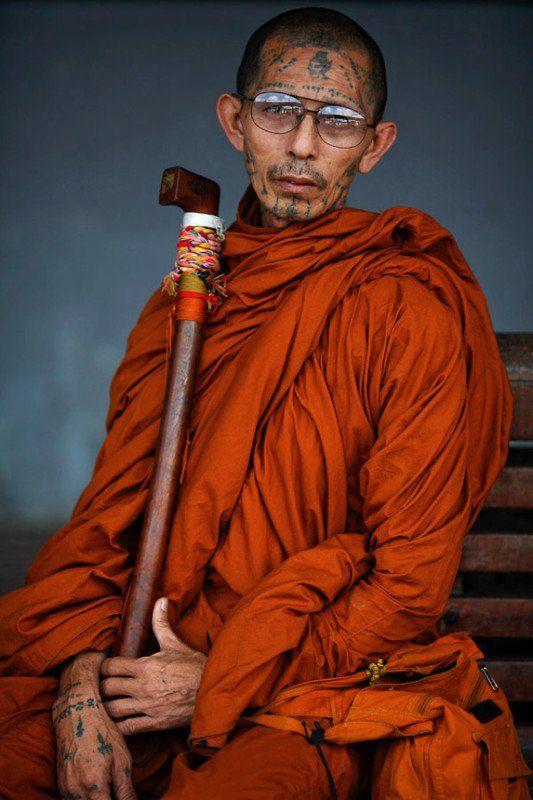 Buddhist monk, Indiawhat a joyful expression