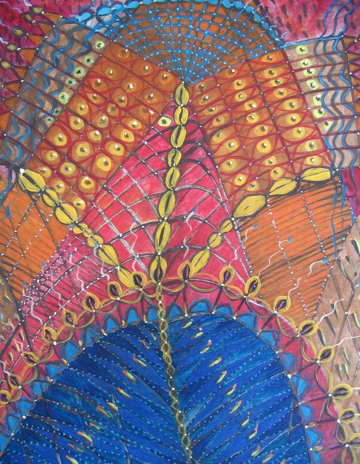 Kazimiera Myk-Magdziak Obraz olejny na płótnie ''Miodowe lata''70x60