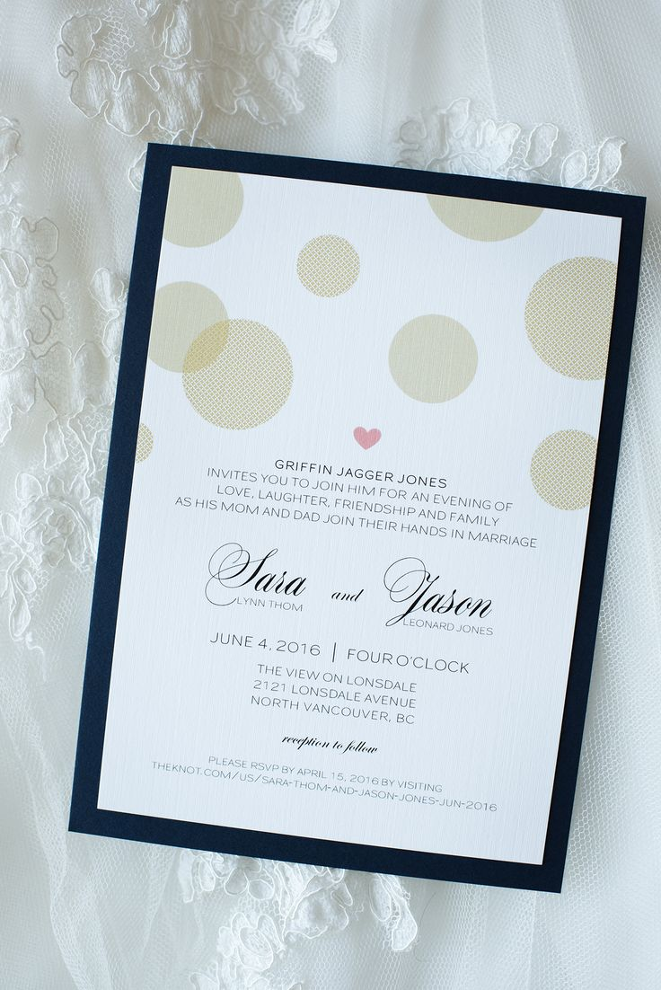 Wedding invitation created by Cornwall Stationery. Photo credit to Paul Behm Photography in Vancouver, BC. #createweddingsandevents #vancouverweddings