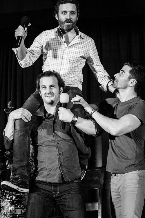 stardustandmelancholy: Rob Benedict, Richard Speight Jr and Matt Cohen, Salute to Supernatural San Francisco 2015 Photography by Stardust and Melancholy