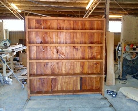 """For your home library, the """"Bookcase"""", made in New Zealand from Macrocarpa. 2m x 1.8m Buy Now: http://www.macsmacrocarpa.co.nz/page18.html"""